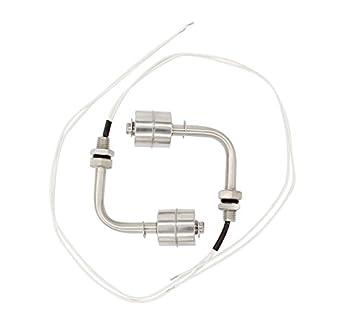 2pcs acero inoxidable interruptor de flotador líquido Sensor de nivel de agua interruptor plata