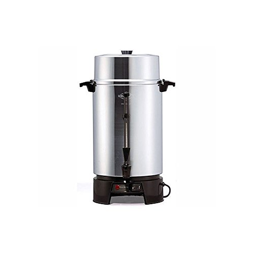 "Focus Foodservice 33600 West Bend Commercially Rated Coffee Maker, 100 Cups, 1500 Watts, 120V, 60Hz, 20"" x 14-3/8"" x 17-13/32"", Aluminum"