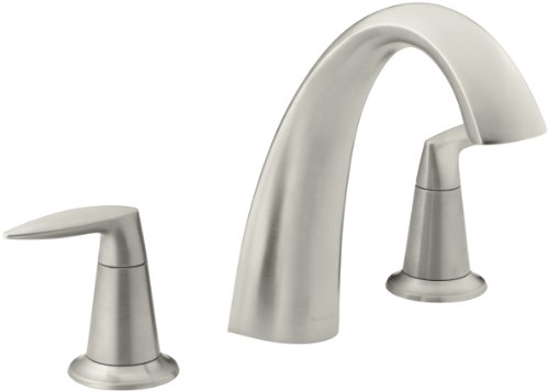 KOHLER K-T45115-4-BN Alteo Bath Faucet Trim, Valve Not Included, Vibrant Brushed Nickel - 4 Deck Bath Faucet Mount