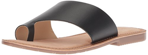 Chinese Laundry Women's Gemmy Slide Sandal, Black Leather, 7.5 M US by Chinese Laundry