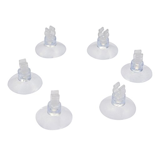 Pawfly 20-Piece Aquarium Suction Cup Clips Airline Tube Holders/Clamps for Fish Tank, Clear 0.2""