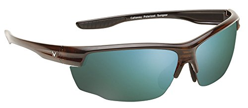 - Callaway  Sungear Kite Golf Sunglasses - Tortoise Plastic Frame, Gray Lens w/Green Mirror