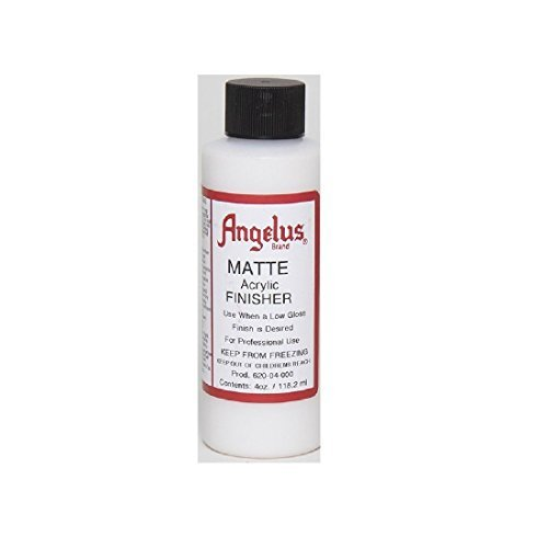 (Angelus Brand Acrylic Leather Paint Matte Finisher No. 620 - 4oz)