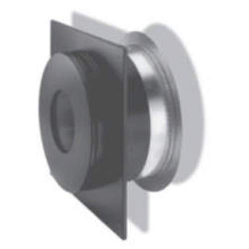 Chimney 69630 6 in. Dura-Vent Dura-plus Wall Thimble- Stainless Steel Painted Black-with - Vent Dura Thimble Wall