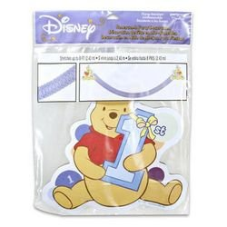 Winnie the Pooh 1st Birthday Boy Honeycomb Streamer
