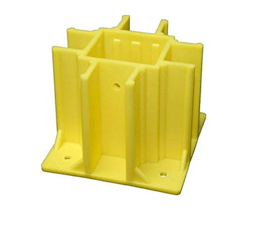 Safety Boot Yellow OSHA Compliant Guardrail Base with Toeboard Slots (Case of 24) (Safety Boot Yellow Osha Compliant Guardrail Base)
