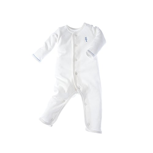 little-pharo-100-extra-long-staple-egyptian-cotton-one-piece-bodysuit-ivory-with-blue-piping-size-0-