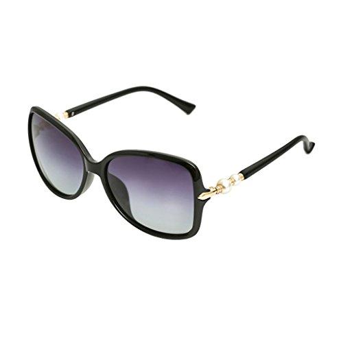 Pearl de de Sol Sol Color Elegante Mujer Conducción Gafas de Grande de polarizadas de Gafas Black Purple Gafas Montura Sol TangMengYun de XqcA4T
