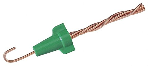 Ideal Industries 30-092 Polypropylene Grounding Wire Connector Green 14-10 AWG 100 Per Box Wing-Nut Greenie 92