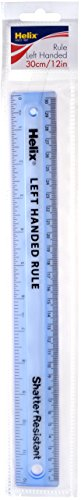 Helix Shatter Resistant Left-Handed Ruler, 12 inches / 30cm (014710)