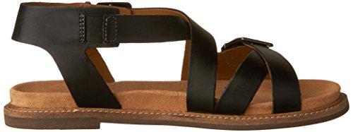 Clarks Kvinna Corsio Bambi Plattform Svart Läder