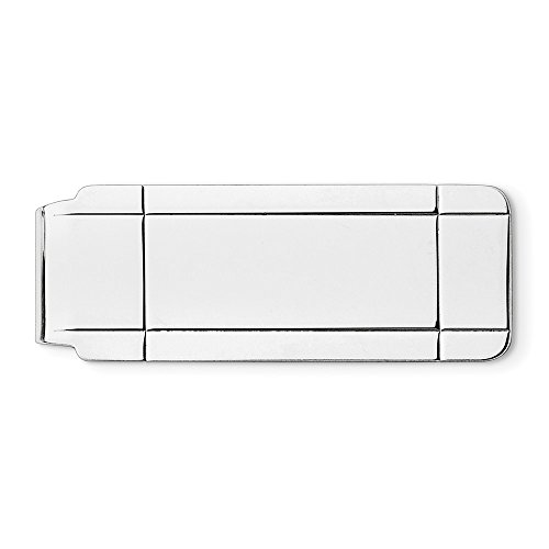 Silver Sterling Money plated Money Silver Clip plated Sterling Rhodium Rhodium Clip BwwnYrqgxR