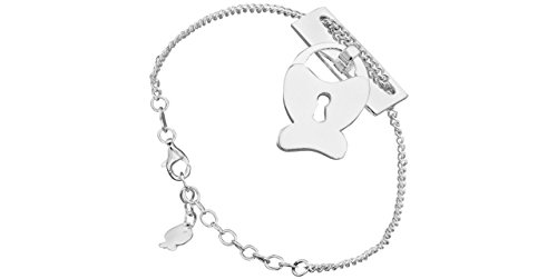 Clio Blue Bracelet chaîne Journal intime en argent 925, 10.3g
