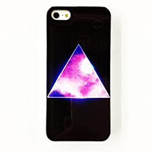 Zaki- Punk Shinning Triangle Pattern Plastic Hard Case for iPhone 4/4S , Multicolor