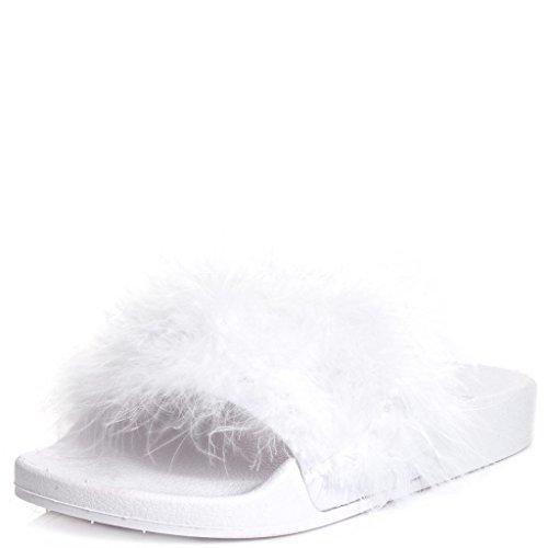 SPYLOVEBUY ELESIA Women's Flip Flop Flat Sandals Shoes White Rubber hXH7q