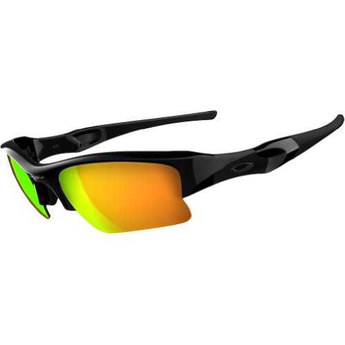 Oakley Flak Jacket 03-899 Iridium Lens,Multi Frame/Fire Lens,One Size
