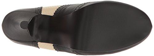 Pinup-07-Plattform Pumpe mit zwei Tönen Spitze High Heel schwarz / creme - (47 EU = US 16) - Pleaser Rosa-Aufkleber