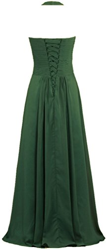 0cca157cf09 Home Brands ANTS Dresses ANTS Women s Chiffon Halter Bridesmaid Dresses  Long Evening Gowns Size 16 US Hunter Green.   
