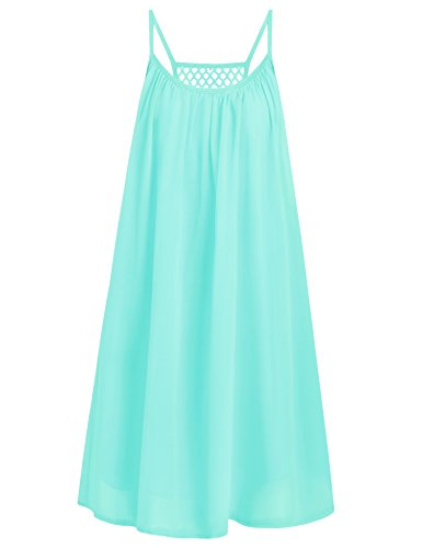Preferhouse Womens Summer Casual Dress Spaghetti Straps Sundress Hollow Out Back