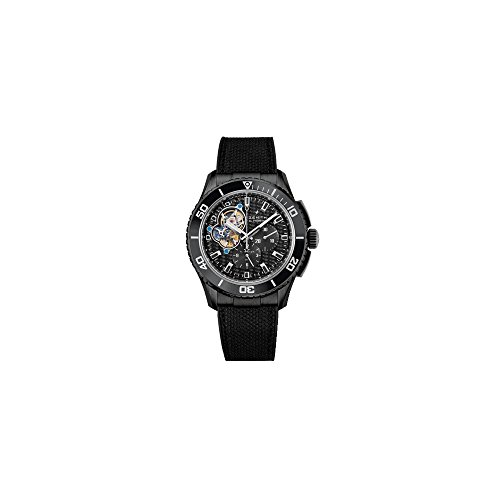 Zenith Stratos Spindrift Chronograph Carbon Fiber Dial Fabric-Covered Rubber Mens Watch 752060406121R573