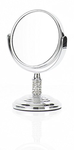 Cheap Danielle Mini Crystal Studded Stem Mirror with True Image and 4x Magnification, Chrome