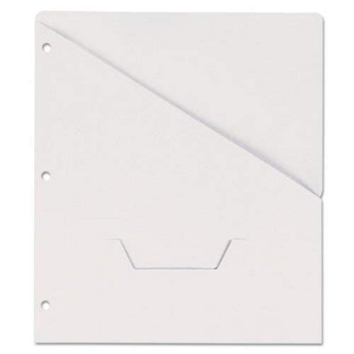 (Universal 61687 Slash-Cut Pocket for 3-Ring Binder, Letter Size, White,)