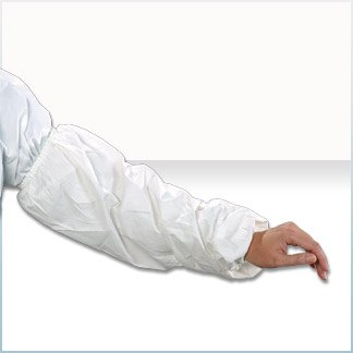 Alpha Pro Tech Critical Cover MS-01J76-8ST ComforTech Tapered Sleeve for Sterile Suite, Tunneled Elastic Both End, Sonic Welded Seams, White, Universal Size (Case of 300)