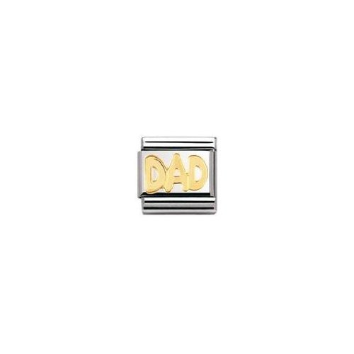 Nomination 030107 - Maillon pour bracelet composable Mixte - Acier inoxydable et Or jaune 18 cts
