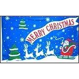 3'x5' Polyester Merry Christmas Flag
