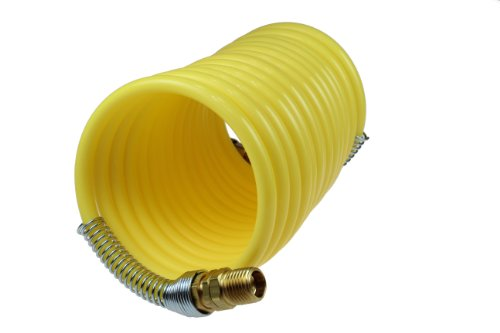 Coilhose Pneumatics N12-50B Coiled Nylon Air Hose, 1/2-Inch ID, 50-Foot Length with (2) 1/2-Inch Swivel ()