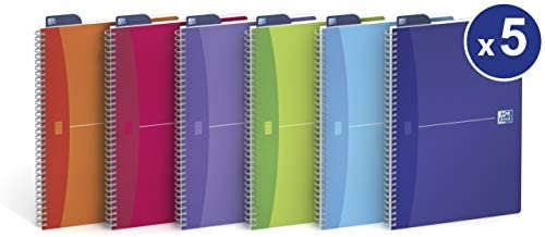Oxford 702362 - Cuaderno de anillas tamaño A4 - Pack de 5 uds ...