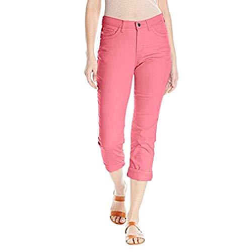 LEE Women's Easy Fit Cameron Cuffed Capri Jean, Slushy, 12 (Lee Easy Fit Jeans)