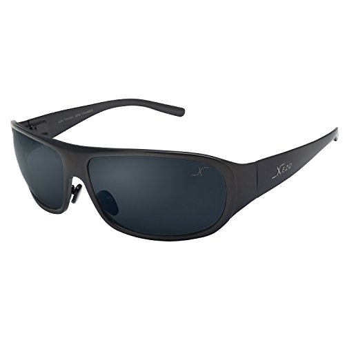 Xezo UV 400 Curve 8 Solid Titanium Polarized Sunglasses, Gun-Metal Semi-Gloss Metallic, 1.7 - Edition Limited Oakley Sunglasses
