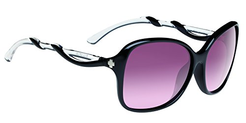 Spy Fiona Sunglasses, Black/Clear/Happy Merlot Fade, 61 mm