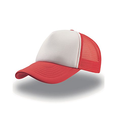 talla Atlantis visera White trucker única Red cap unisex rejilla Rapper Gorra CfOq0wxxp