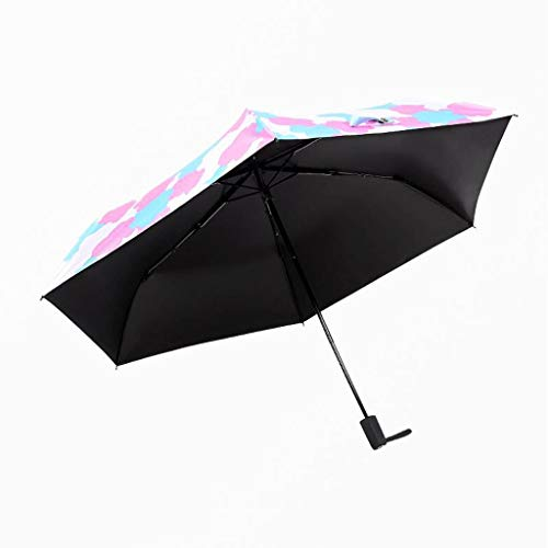 Ultra-Light Creative Clouds Clouds Princess Folding Black Rubber Sunny Umbrella Girls Sun Umbrella (Color : B)