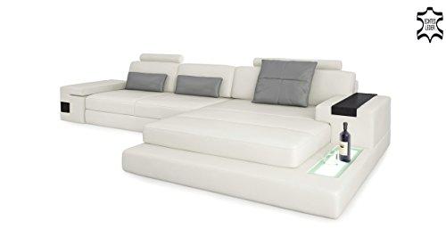 Couch l form modern  Ledersofa Wohnlandschaft Leder modern Ecksofa Sofa Couch ...