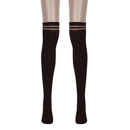 Brown Wind Thigh Stockings College The Sock Winter Egmy High Women's Knee Stockings Socks Over HIWxOwqFfF