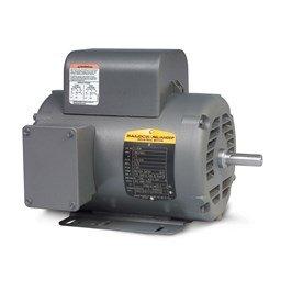 Baldor L1410T General Purpose AC Motor, Single Phase, 184T Frame, OPEN Enclosure, 5Hp Output, 1725rpm, 60Hz, 230V Voltage
