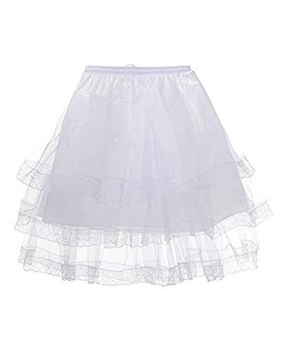 Fbhskdh Girls Flower Girl Petticoat Childrens 3 Hoop Underskirt Slips UP002,White-3 Layers Lace Edge,One Size