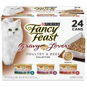 Purina Fancy Feast Gravy Lovers Poultry & Beef Feast Collection Wet Cat Food Variety Pack - (24) 3 Oz. Cans - 2 Pack