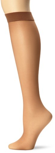 Hanes Silk Reflections Women's Knee High With No Slip Band, Barely There, One Size