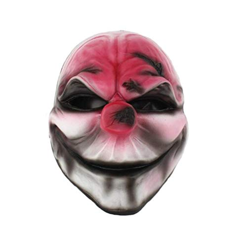 UPSKY Payday 2 Mask Film Them Head Red Halloween Masquerade Horror Resin Mask Hockey Memorabilia ()