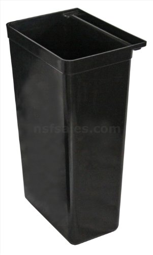 New Star Bus Cart Refuse Bin, 13-Inch by 9-Inch by 22-Inch, Black