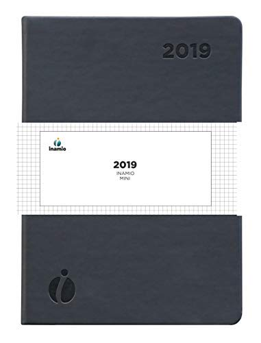 2019 Dated Planner by Inamio – A5 Size Weekly and Monthly with Time Slots – Annual Calendar with Notes and Hardcover, 6 x 8.5'