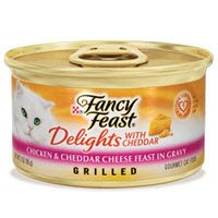 Fancy Feast Delights with Cheddar Grilled Chicken and Cheddar Cheese Feast in Gravy, My Pet Supplies