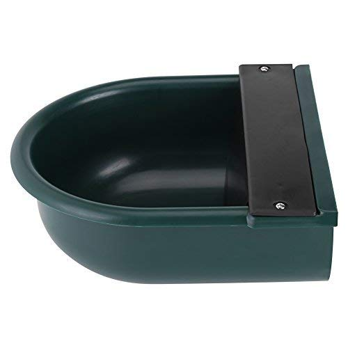 (Drinking Bowl For Dog, 4L Automatic Float Valve Water Trough Livestock Drinking Bowl for Cat Sheep Dog Horse Farm Supplies, Plastic + Copper)