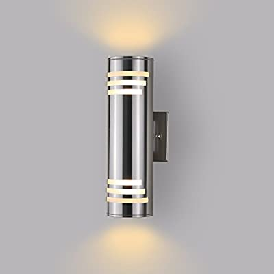 Outdoor Wall Sconce - Housen Solutions Waterproof Porch Light Wall Fixture, Wall Mount Lamp, Stainless Steel 304, UL Listed, Suitable for Garden & Patio