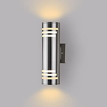 Eglo 90121A Ascoli Wall Light, Stainless Steel - Wall Porch Lights ...