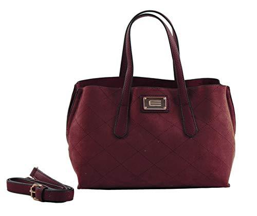 Burdeos de Bolso Mano para Mujer x L Rojo H cm 7x16x24 Shopper Eferri x Nápoles W HgF5qwxFZ